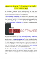 Get Great Source To Buy Microsoft Office 2016 Product Key
