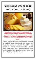 Cheese Your Way to Good Health (Health Notes)