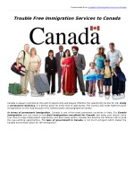 Know Benefits of Canada Immigration