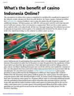 What's the benefit of casino Indonesia Online?