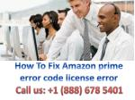 How To Fix Amazon prime error code license error