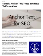 Semalt: Anchor Text Types You Have To Know About