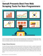 Semalt Presents Best Free Web Scraping Tools For Non Programmers