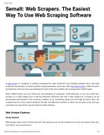 Semalt: Web Scrapers. The Easiest Way To Use Web Scraping Software
