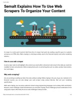 Semalt Explains How To Use Web Scrapers To Organize Your Content