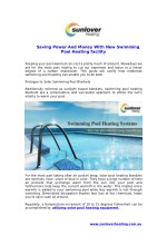 Saving Power And Money With New Swimming Pool Heating facility