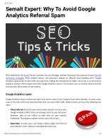 Semalt Expert: Why To Avoid Google Analytics Referral Spam
