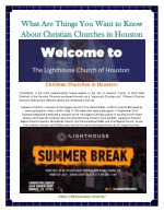 Christian Churches In Houston
