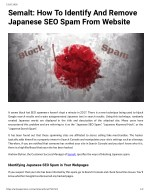 Semalt: How To Identify And Remove Japanese SEO Spam From Website