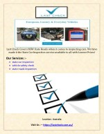 State Roads Inspection _All Types of Cars-Vehicle Safety Inspection
