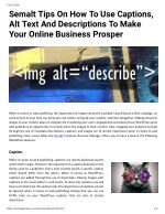 Semalt Tips On How To Use Captions, Alt Text And Descriptions To Make Your Online Business Prosper