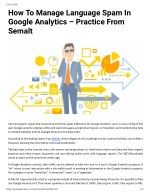 How To Manage Language Spam In Google Analytics – Practice From Semalt