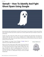 Semalt – How To Identify And Fight Ghost Spam Using Google