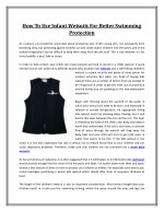 How To Use Infant Wetsuits For Better Swimming Protection