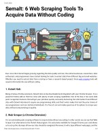 Semalt: 6 Web Scraping Tools To Acquire Data Without Coding