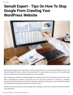 Semalt Expert - Tips On How To Stop Google From Crawling Your WordPress Website