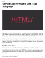 Semalt Expert: What Is Web Page Scraping