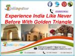 Golden triangle delhi agra jaipur tour package