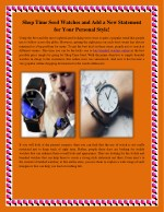 Shop Time Seed Watches and Add a New Statement for Your Personal Style!
