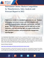 Instrument Cluster Market Competition by Manufacturers, Sales Analysis and Forecast Report to 2022