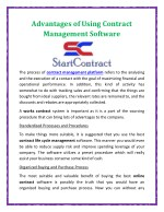 Advantages of Using Contract Management Software