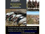 Choose the Best Duck Hunting Destinations