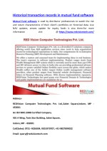 Historical transaction records in mutual fund software