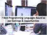 7 Best Programming Languages & Opportunities