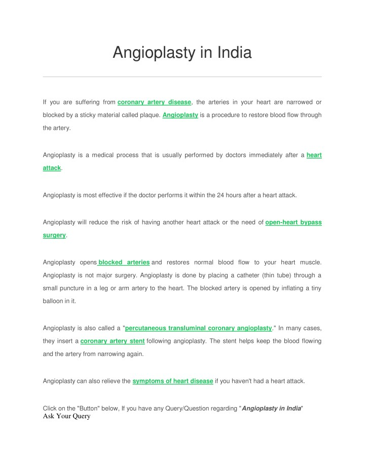 angioplasty in india n.
