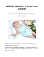 PATACHOU Kids Summer Collections sale at Masielbebe