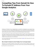 Compelling Tips From Semalt On How To Exclude IP Address From Your Google Analytics