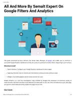All And More By Semalt Expert On Google Filters And Analytics