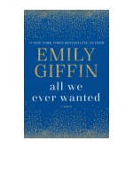 [PDF] All We Ever Wanted by Emily Giffin