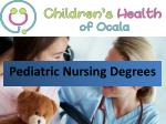 Pediatric nursing degrees