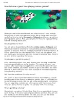 How to have a great time playing casino games