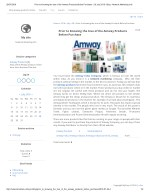 Prior to Knowing the true of the Amway Products Before Purchase