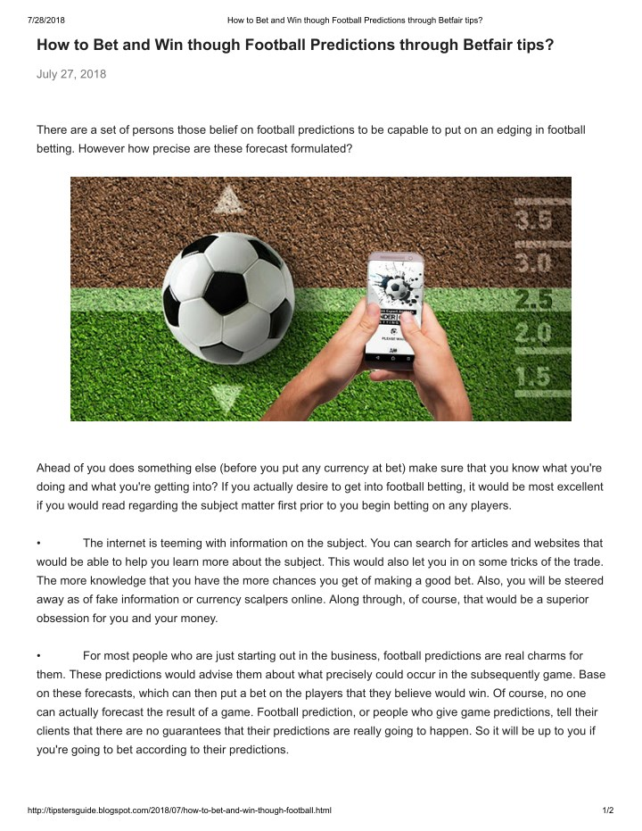 PPT - How to Formulate Soccer Predictions and Best Betting Tips
