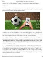 How to Formulate Soccer Predictions and Best Betting Tips