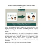 Hair Loss Solutions: From Nonsurgical Approaches to Hair Transplantation