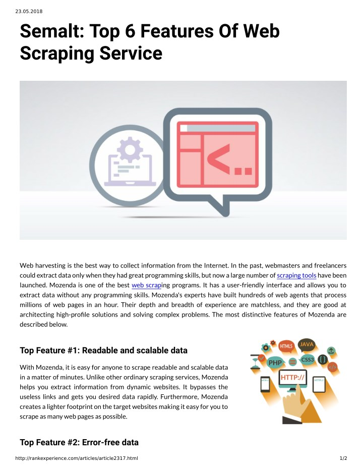 PPT - Semalt: Top 6 Features Of Web Scraping Service PowerPoint