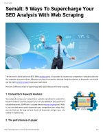 Semalt: 5 Ways To Supercharge Your SEO Analysis With Web Scraping