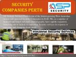 Security companies Perth