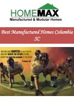 Best Manufactured Homes Columbia SC