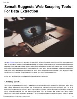 Semalt Suggests Web Scraping Tools For Data Extraction