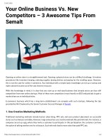Your Online Business Vs. New Competitors 3 Awesome Tips From Semalt