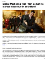 Digital Marketing Tips From Semalt To Increase Revenue In Your Hotel