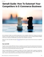 Semalt Guide: How To Outsmart Your Competitors In E Commerce Business