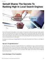 Semalt Shares The Secrets To Ranking High In Local Search Engines