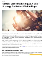 Semalt: Video Marketing As A Vital Strategy For Better SEO Rankings