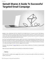 Semalt Shares A Guide To Successful Targeted Email Campaign